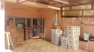 Food relief for Christian refugeed